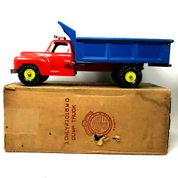 Marx Toys Dump Truck With Box, Vintage 1950's