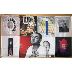 Mac Miller Album Cover Collage Flag Banner Wall Tapestry 3x5 Feet College Dorm