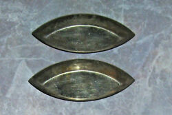 French Tin Chocolate Or Candy Small Molds Lot Of 2 Antique Circa 1900 - 1910