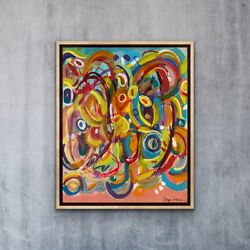 The beat Original Abstract Painting. 16x20 Inch. Modern art