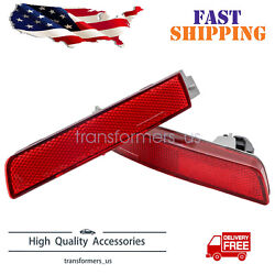 Bumper Reflector Set For 2013-2018 Nissan Sentra Rear Left And Right 2pc