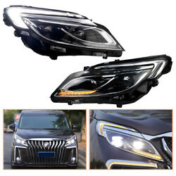 For Buick Gl8 Headlamps 2017-2019 Full Led Projector Led Drl Replace Oem Halogen