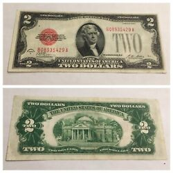 Vintage Rare Two Dollar 1928-a Bill United States Legal Tender Note Red Seal Vnc