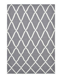 Solo Rugs - Pinto Contemporary Flatweave Hand Woven Wool Blend Area Rug