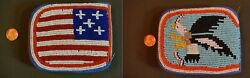 Vintage Native American Yakama 2 Sided Fully Beaded Wallet Eagle And U.s. Flag