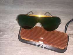 Vintage Bausch And Lomb Wings Sunglasses, Original Case, 1980's Aviator