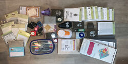 Stampin Up Huge Lot Of Stamps Punches Markers Sizzix Box Shot And More