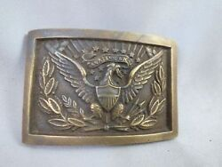 Civil War Csa Army Officer's Eagle Brass Buckle Repro Confederate Rebel Military