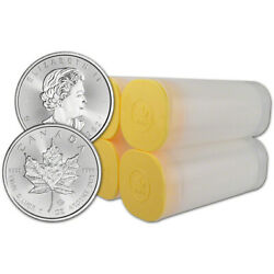 2021 Canada Silver Maple Leaf - 1 Oz - 5 - 4 Rolls - 100 Coins In 4 Mint Tubes