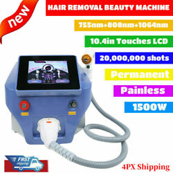 Pro Diode Laser 755nm/808nm/1064nm Permanent Hair Removal Body Beauty Machine
