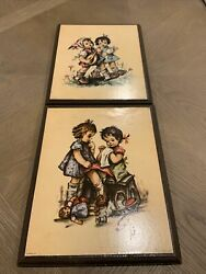 Vintage Stapco Ny Lithograph Pictures 10andrdquox12andrdquo Wood Frame Print Assorted Lot 2