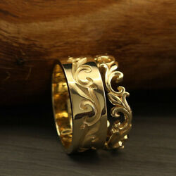 Hallmark Stamp Solid 18k Yellow Gold Beautiful Couple Band All Size