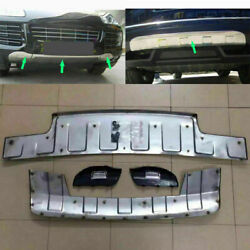 For Porsche Cayenne Stainless Front + Rear Bumper Protector Guard 2008 2019 2010