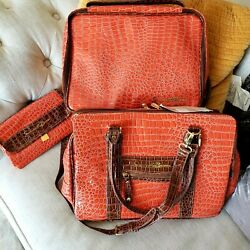 3 Piece Samantha Brown Travel Set Jewelry Case Make Up Bag 3Compartment Case $40.00