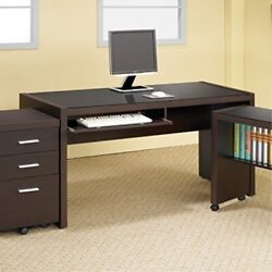 Coaster Home Furnishings Skylar Computer Desk With Keyboard Drawer Cappuccino