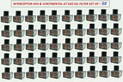 50x Royal Enfield Oil Filter Unit For Interceptor 650 And Continental Gt 650