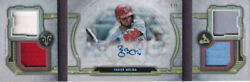 2020 Topps Triple Threads Yadier Molina Windows Into Greatness Auto Relics