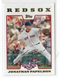 2008 Topps Opening Day Gold 114 Jonathan Papelbon 1978/2199 Red Sox