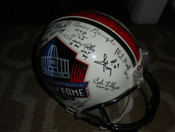 Signed Football Hof Full Size Helmet 32 Autograph Steelers Redskins Colts Lions
