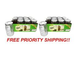 🚀ball Quart Wide Mouth 32 Oz. Canning Jars 24-pack  🚀ships Priority Tmw🚀