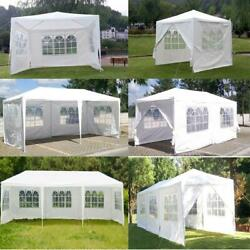 10and039x20and039/30and039 Party Canopy Tent Outdoor Gazebo Heavy Duty Pavilion Event White