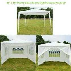 New 10and039x10and039 Canopy Party Wedding Tent Heavy Duty Gazebo Pavilion Cater Events