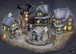 Ceramic Bisque Ready To Paint Large Haunted Village Electric Kit Included