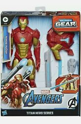 Marvel Avengers Titan Hero Series Iron Man Action Figure with Blast Gear NEW
