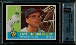 1960 Topps 9 Faye Throneberry Gai 8 Last Recorded Sale On A 8 Sold For 108+