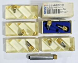 Seco Mm12-0.62-2.6-0-000 Minimaster Milling Toolholder And 8 New Inserts  D419