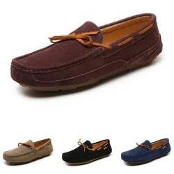 Mens Faux Leather Loafers Shoes Slip On Driving Moccasins Flats Walking Sports L