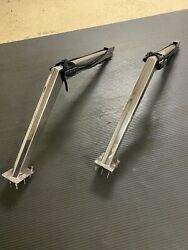 Custom Boat Davits- Polished Stainless- 30 In. Vertical And 44 In. Horizontal