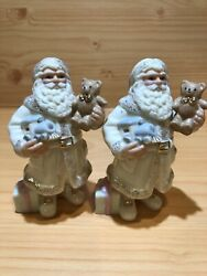 Lenox Santa Claus Figurines With Toys And Gifts Porcelain 4 1/2 Tall,set Of 1