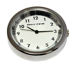 For Honda Pc 800 Pacific Coast Stainless Steel / White Faced Clock