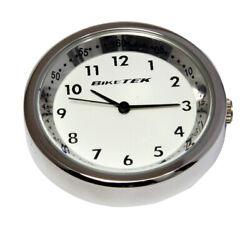 Kymco K-pipe Stainless Steel / White Faced Clock