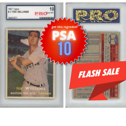 1957 Topps Ted Williams 1 Boston Red Sox Hof Great Card 10 Gem Mint Pro