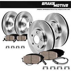 Front And Rear Premium Brake Rotors And Ceramic Pads For Mercedes Benz S430 S500