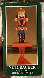 Nutcracker Cast Iron Christmas Stocking Hanger Midwest Of Cannon Falls