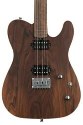 Friedman Vintage-t Hh Electric Guitar - Natural With Black Back And Pau Ferro