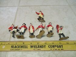 Vtg Lot Marx Warriors Of The World Wow British Lord Cornwallis Soldiers Figures