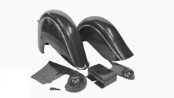 Indian Chief Front And Rear Black Fender Mudguards Chain Guard And Tool Box Post