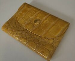 Fendi Wallet Yellow Alligator Vintage Made In Italy Coin Wallet
