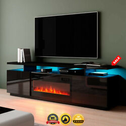 Tv Stand Modern Electric Fireplace For Tv Up To 80 Entertainment Console 2021