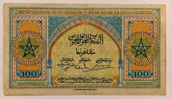 1943 100 Cent Francs Morocco Banknote, Great Color Must Have