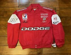 Casey Atwood 19 Dodge Ram Racing Race Jacket Mens Size Large Nascar New Red