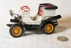 Vintage Sign Of Quality Japan White Tin Friction Car