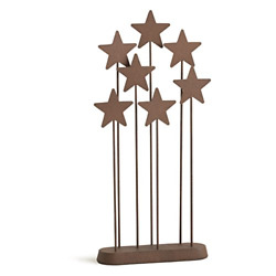 Willow Tree Metal Star Backdrop Hand-painted Nativity Accessory
