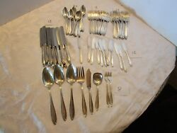 Art Deco 12 Silverplate Set 79 Pc. Wallace 1835 R Wallace 1920andrsquos + 8 Serving Pc