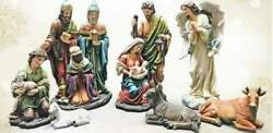 Outdoor Nativity Set 18 Inch Yard Statues Colored Old World Durable Resin