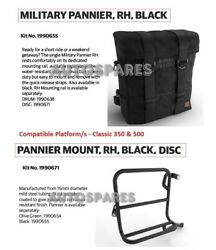 Royal Enfield Military Pannier Black Rh And Mounting Kit Disc For Classic 350/500